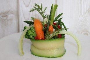 Sinfonía de verduras de temporada con aceite siurana