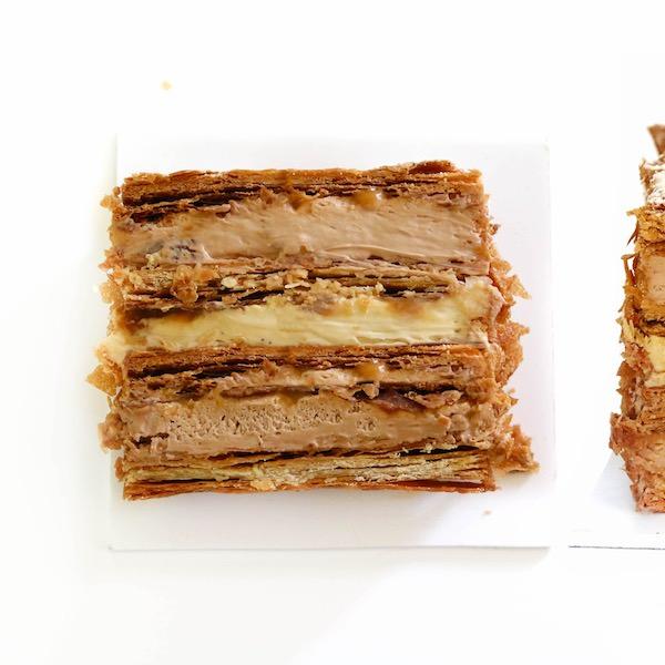 Millefeuille de Chocolate y Caramelo salado
