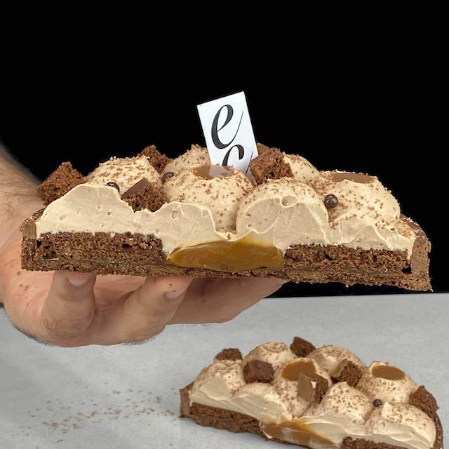 Tarta Sable de Chocolate y Caramelo salado.