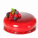 Glaseado espejo de frambuesas y arándanos (sin colorante)