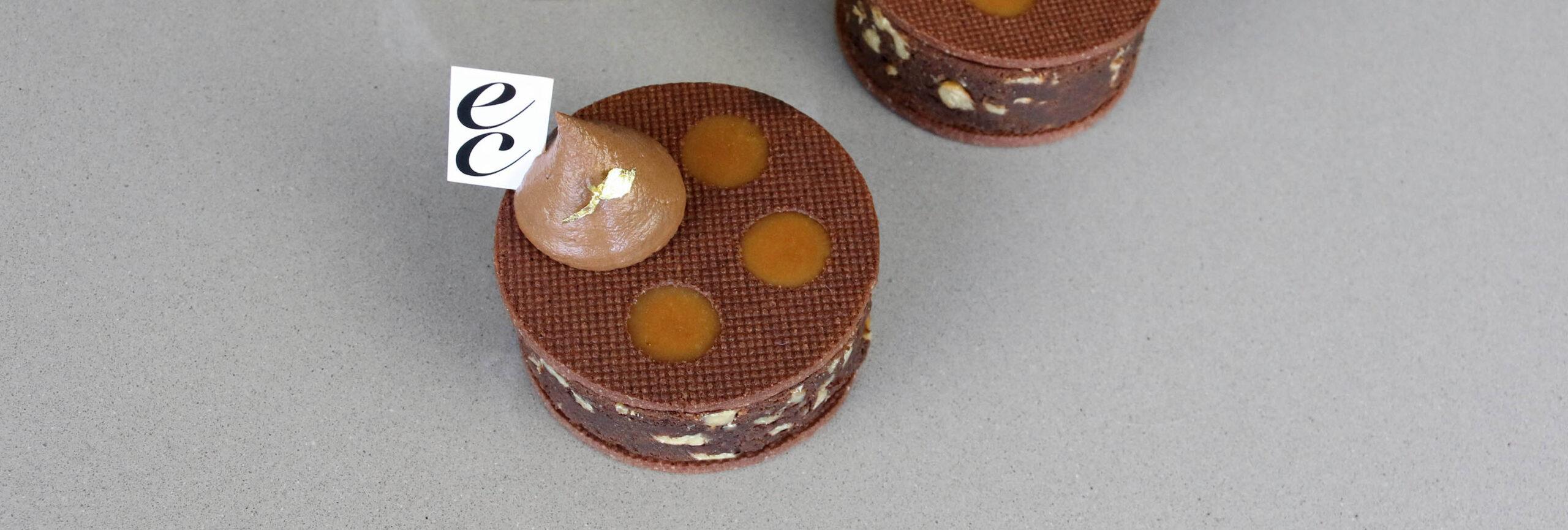 Galletas de Brownie con Caramelo salado y Ganache