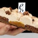 Tarta sable de chocolate y caramelo salado