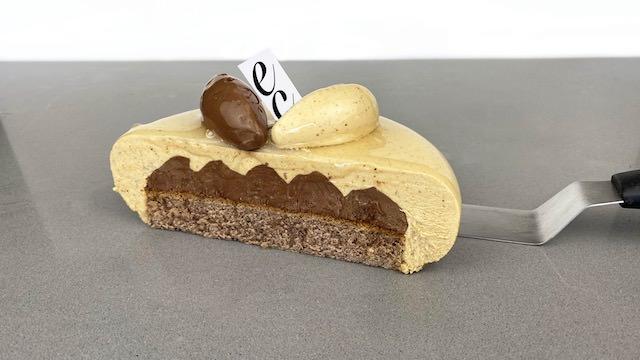 Pastel de Avellana y Namelaka de Chocolate