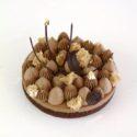 Financier de Chocolate con mousse y ganache montada