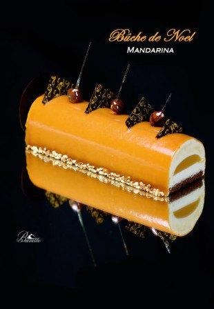 Bûche de mandarina y caramelo