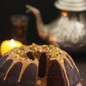Bundt Cake de chocolate, con toffe y frutos secos