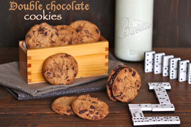 Cookies americanas con doble chocolate