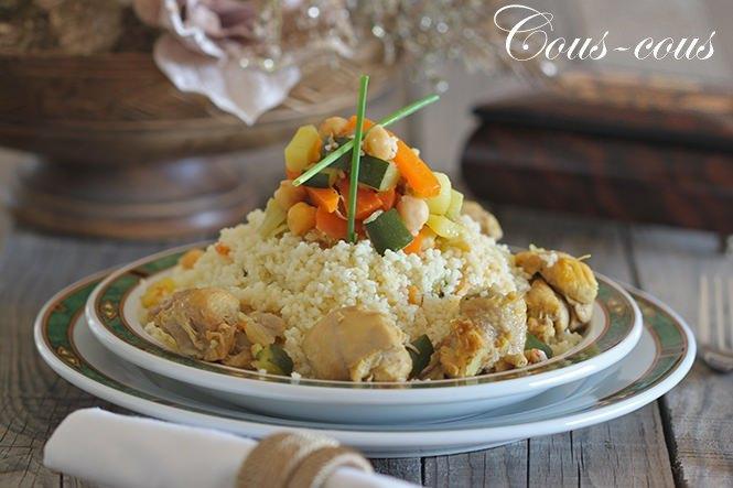 Cous-cous de pollo y verduras