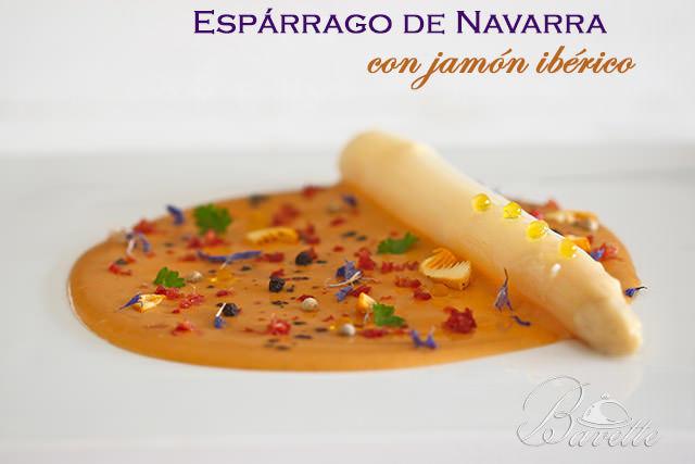 Espárrago blanco de Navarra con jamón ibérico