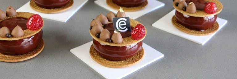 Petit Gateaux de Frambuesa y Chocolate