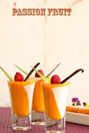 Gelatina de mango y maracuyá
