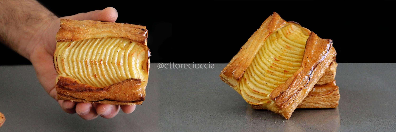 Tarta de Manzana con Hojaldre casero y Crema Pastelera