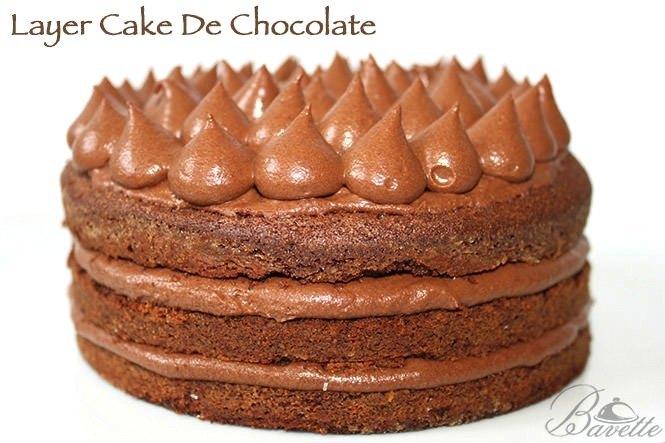 Layer cake de chocolate