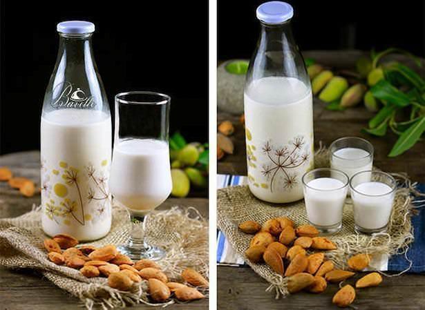 Receta de leche de amendras