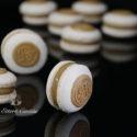 Macarons con ganache de café
