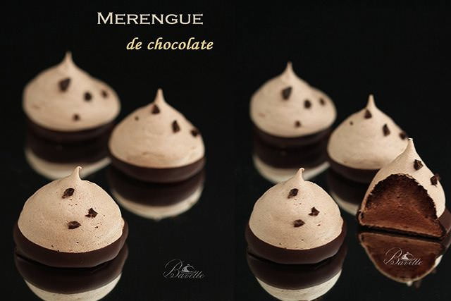 Merengue francés de chocolate