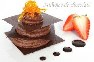 Crujiente de chocolate negro