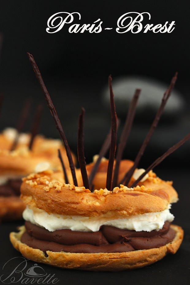 París-Brest con chocolate y praliné