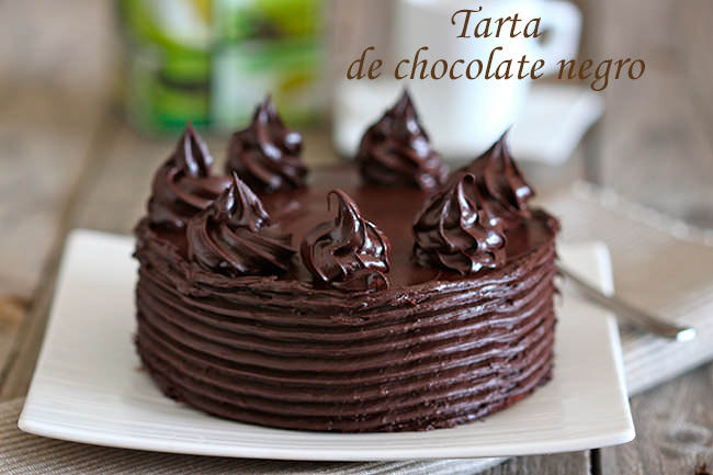 Tarta de chocolate negro