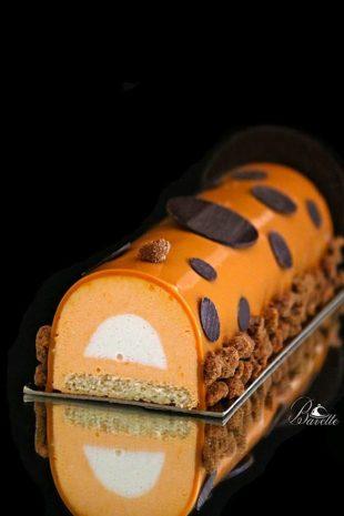 Pastel de albaricoque y melocotón