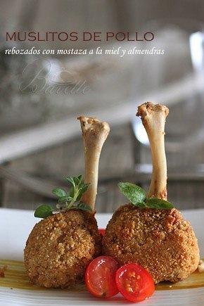 Pollo rebozado con mostaza y almendra