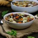 Receta de potaje de verduras, con alubias rojas y galets