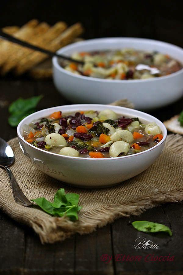 Receta de potaje de alubias rojas con verduras