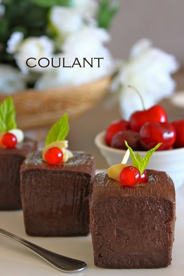 Receta de coulant de chocolate caliente