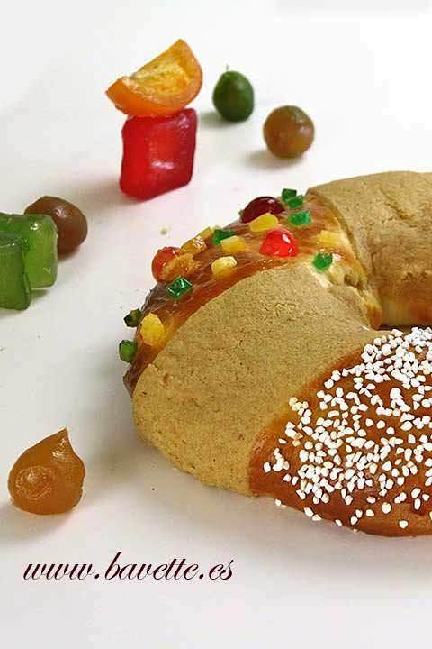 Roscón de Reyes con craquelín crujiente