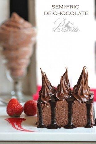 Semi frio de chocolate