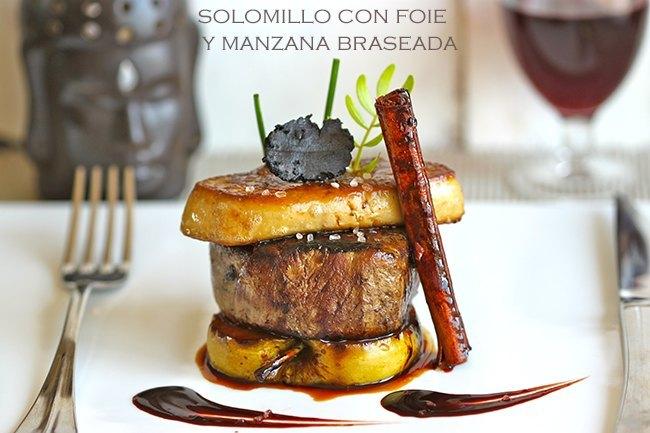 Cocinar Solomillo | De Ternera Con Foie Y Manzana Braseada