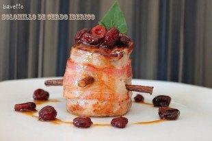 Solomillo de cerdo ibérico con salsa de arándanos