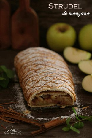 Apfelstrudel o strudel de manzana