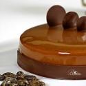 Tarta mousse de chocolate y caramelo