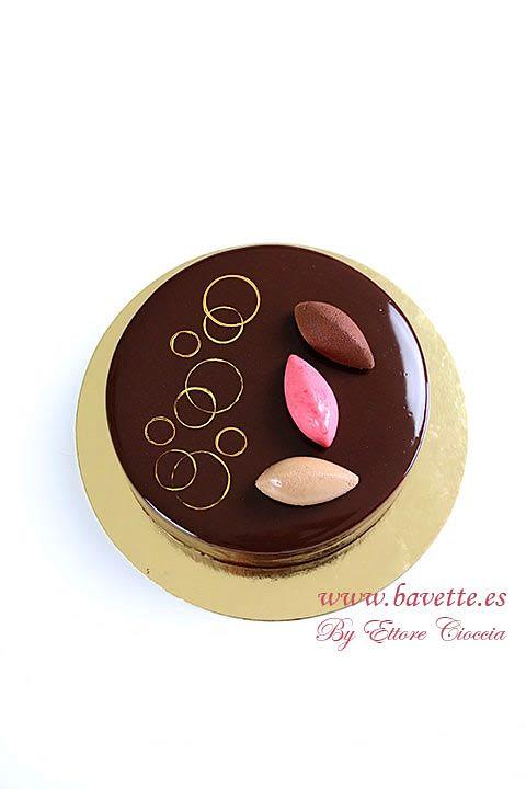 Tarta mascarpone con mousse de frambuesa y chocolate