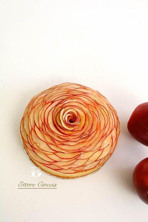 Tarta de manzana con crema de almendras