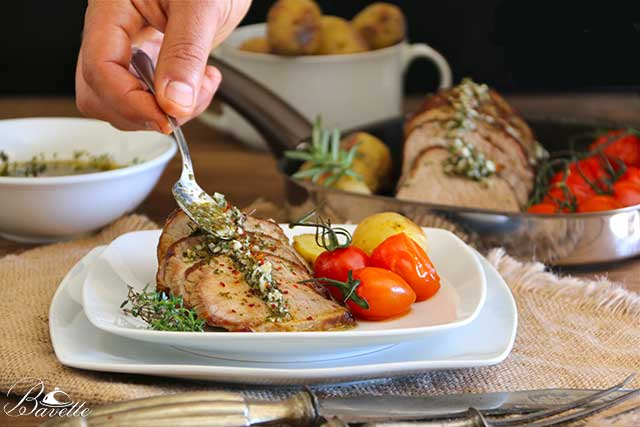 Redondo de ternera gallega y salsa chimichurri