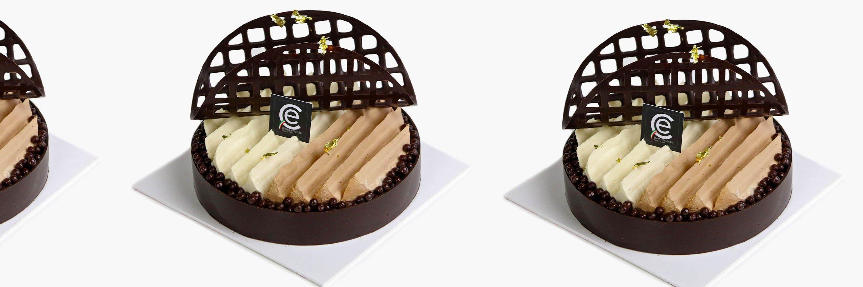 Tarta Sablé a los tres Chocolates con crujiente de obleas